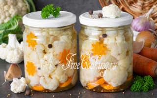 Маринованная цветная капуста на зиму — рецепт с фото
