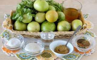 Засолка зеленых помидоров с горчицей