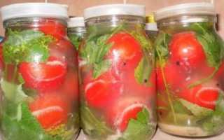Приготовление квашеных зеленых помидоров в ведре