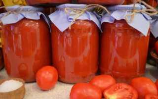 Помидоры в собственном соку с томатной пастой на зиму: рецепты с фото