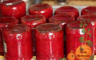 Борщ на зиму в банках с капустой и томатной пастой: рецепт для всех