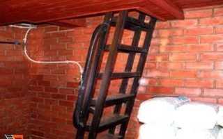 Лестница в погреб металлическая
