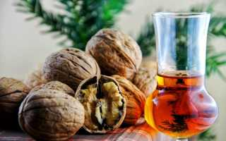 Самогон на перегородках грецкого ореха: рецепт на перепонках в домашних условиях