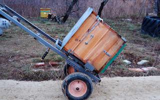 Пасечная тележка — апилифт: изготовление своими руками (фото и видео)