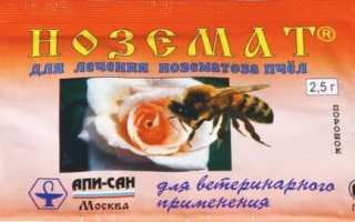 Ноземат: инструкция по применению для пчел, состав