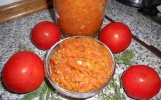 Икра из кабачков с помидорами на зиму: рецепты, приготовление