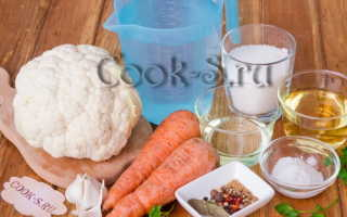 Рецепт маринованной цветной капусты быстрого приготовления