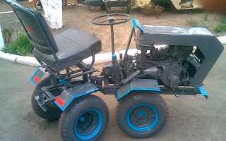 Самодельный трактор переломка 4х4 своими руками