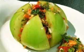Рецепт зеленых помидор с чесноком маринованных на зиму пальчики оближешь