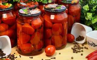 Сладкие помидоры на зиму без уксуса