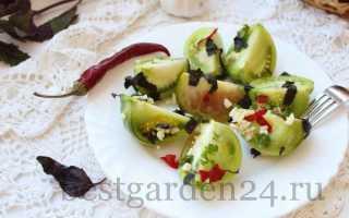 Квашеные зеленые помидоры быстрого приготовления без уксуса