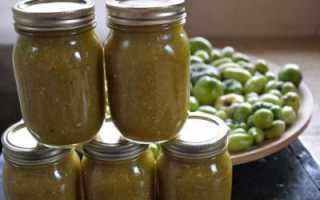 Аджика из зеленых помидоров — рецепты приготовления
