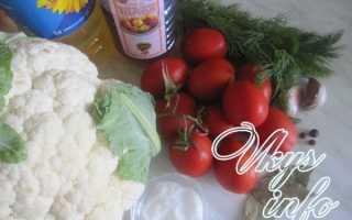 Маринованные помидоры с цветной капустой на зиму – рецепт с фото
