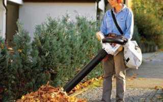 Электрический садовый пылесос с измельчителем