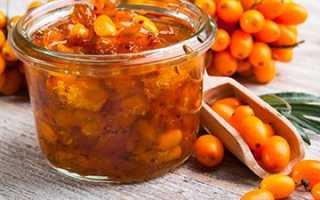 Варенье из облепихи: рецепт «Пятиминутка» и способ приготовления без варки, польза и вред
