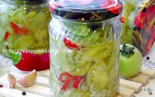 Салат «Кобра» из зеленых помидор на зиму, Легкие рецепты