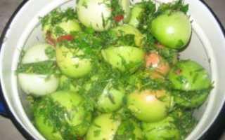 Квашеные зелёные помидоры с чесноком и зеленью в кастрюле или в ведре: как сделать заготовку, в том числе без закатки в банки?