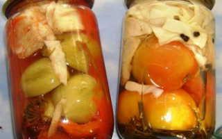 Рецепт салата из зеленых помидоров и капусты на зиму: 3 способа