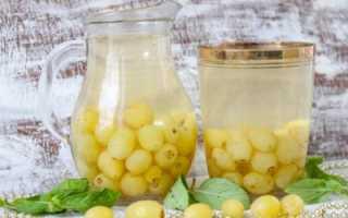 Компот из белого винограда на зиму без стерилизации