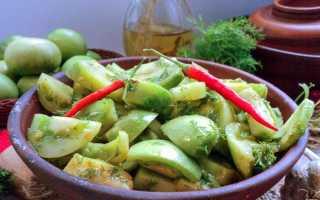 Салат из зеленых помидор на зиму «Пальчики оближешь! »