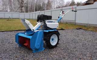 Роторный снегоуборщик для мотоблока