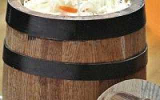 Как заквасить капусту в бочке дома — пошаговый рецепт
