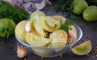 Соленые зеленые помидоры на зиму — рецепт с фото