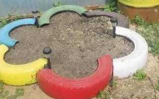 Песочница из покрышек своими руками фото