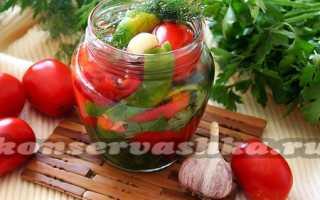 Соленые помидоры горячим способом, Заготовки на зиму