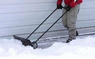 Скрепер для снега на колесах