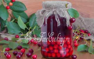 Вишневый компот на зиму — рецепт с фото