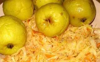 Рецепт моченых яблок с капустой в бочке — Популярно о здоровье