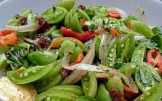 Салат из зеленых помидор — рецепты по-корейски быстрого приготовления, острого салата к столу и на зиму