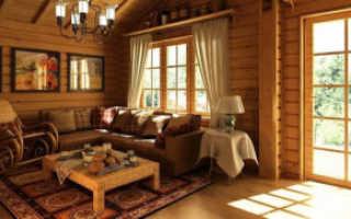 Как оформить гостиную на даче